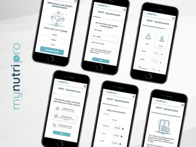 Questionnaire - mobile version questionnaire mobile app typography nutrition tegri design uidesign branding
