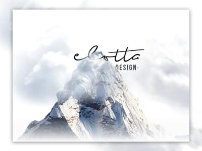 elotta design - header graphic  design cloud mountain elotta landing  page ui illustration elottadesign tegri design uidesign branding