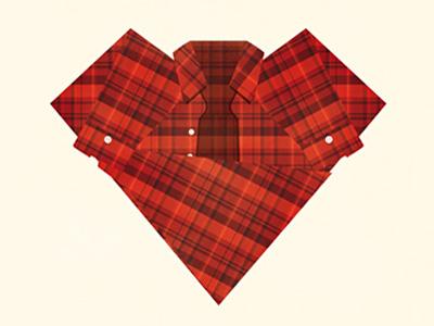 Plaid Love heart plaid