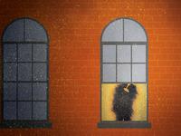 Couple on window