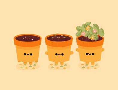 Plant pastel plants plant happy minimal logo cute design graphic illustration botanical illustration botanical