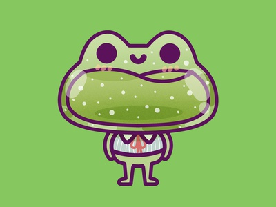 Frog kids illustration happy pastel kid minimal illustration design graphic kawaii cute frog