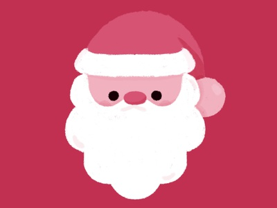 Santa happy pastel kid minimal illustration design graphic kawaii art kawaii december cute christmas santaclaus santa