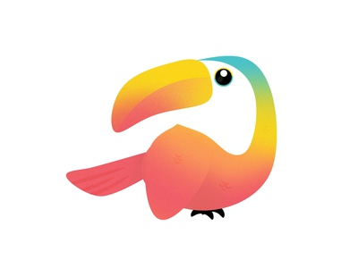 Toucan pastel kid illustration design graphic cereal nature minimal happy toucans kawaii cute rainbow bird toucan