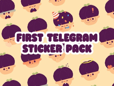 Sticker Pack branding pastel kid minimal illustration kawaii art design graphic happy telegram people portrait kawaii cute sticker