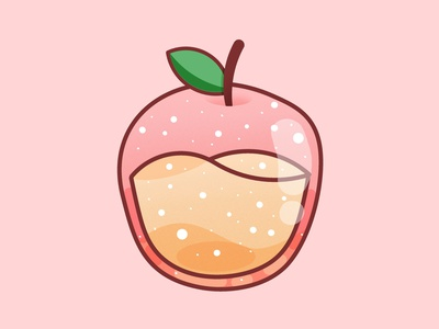 Apple pastel minimal illustration design graphic happy food fruity kawaii cute apples fruit apple