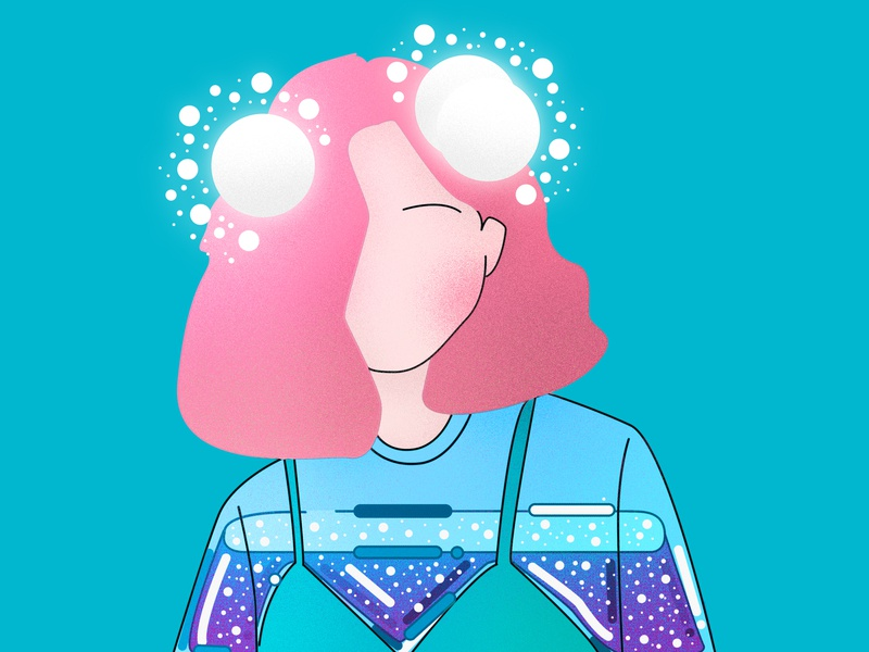 Lady jelly woman water purple princess portrait pink people minimal lady japan illustration graphic fashion draw this in your style cute cool beauty design abstract