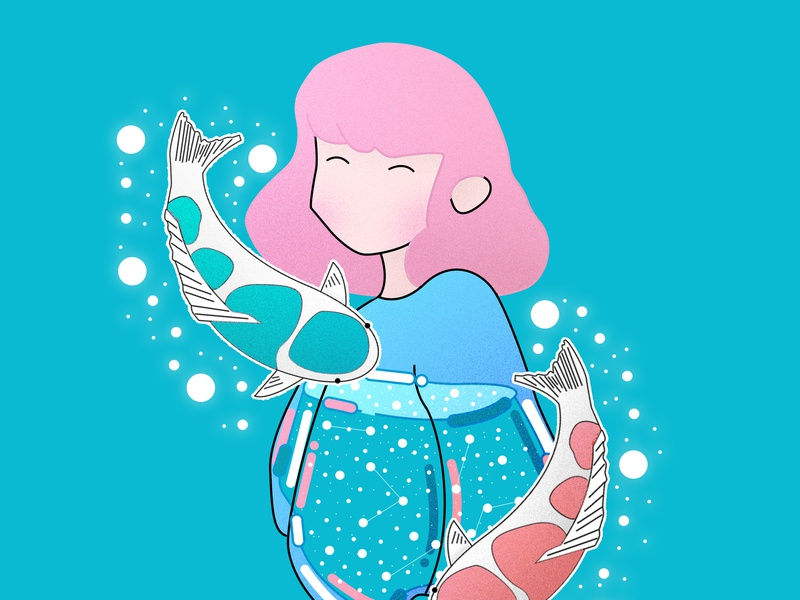 Lady cute fish woman water purple princess portrait pink people minimal lady jelly japan illustration graphic fashion draw this in your style design cool beauty