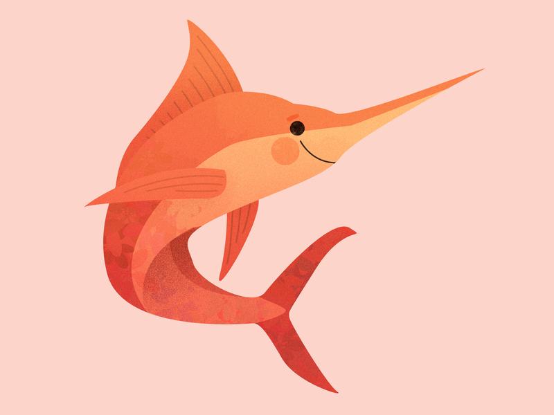 Marlin 2019 cute spring pastel myth mystical design graphic illustration kid happy fish animal ocean sea creature mermaid mermay marlin