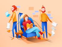 Marketing services illustration
