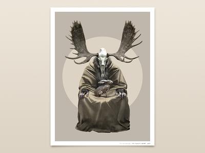 The Forest Spirit photoshop wacom contemporary art illustration poster pasel pagan mythology painting matte art drawing