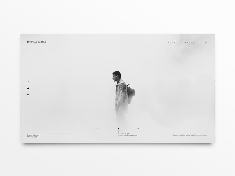 Brunels World Landing Inspiration / Concept photography website web landing branding typography ui