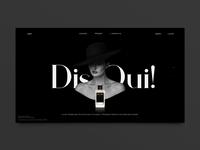 Dis Oui! Parfum from Paris landing page concept