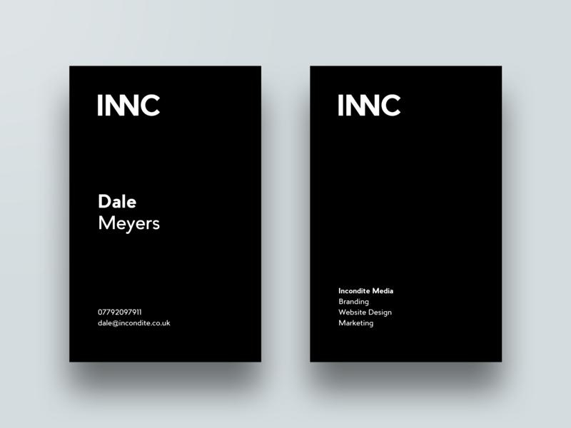 Incondite Business Cards noir identity business cards design minimal branding