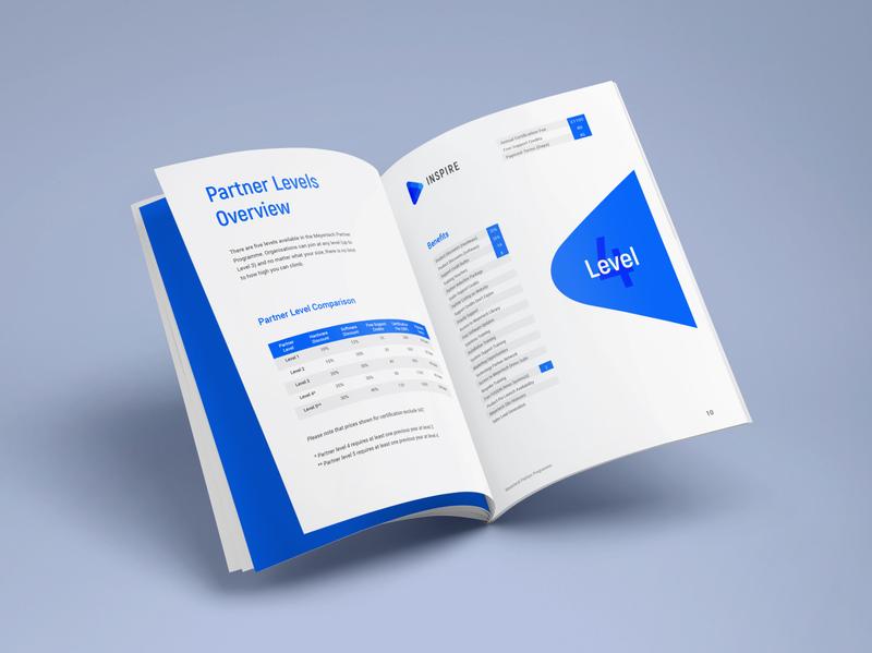 Meyertech Partner Programme Brochure minimal design identity brochure branding