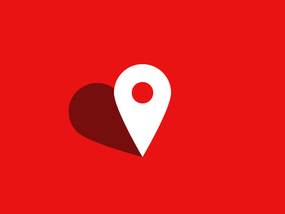Home is where the heart is... illustration map marker map point icon heart icon heart