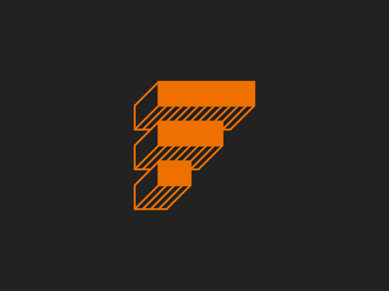 Foundry geometric icon logo branding monogram custom type grid typography