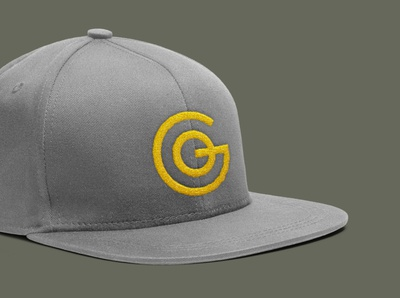 GO 2020 GO yellow apparel mockup hat branding monogram custom type typography
