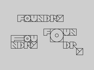 Unused Modular Identity modular brand identity branding custom type lettering grid typography