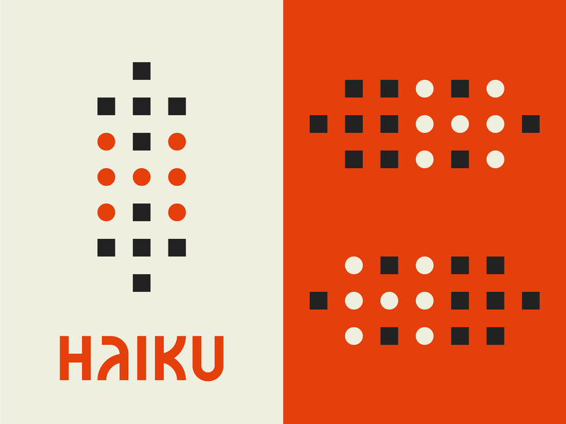 Haiku 2, Electric Boogaloo monogram lettering identity branding custom type icon grid typography