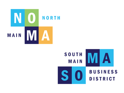 NOMASOMA logotype logo neighborhood branding neighborhood identity visual identity neighborhood identity greenville branding