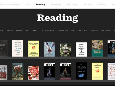 2017! library books futura sentinel typography css layout ux ui