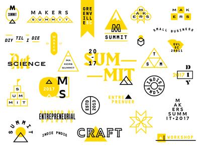 Lil' Doodads for Makers Summit blair itc south carolina futura cactus bold gt pressura mono harbour bold specimen badges badge typography