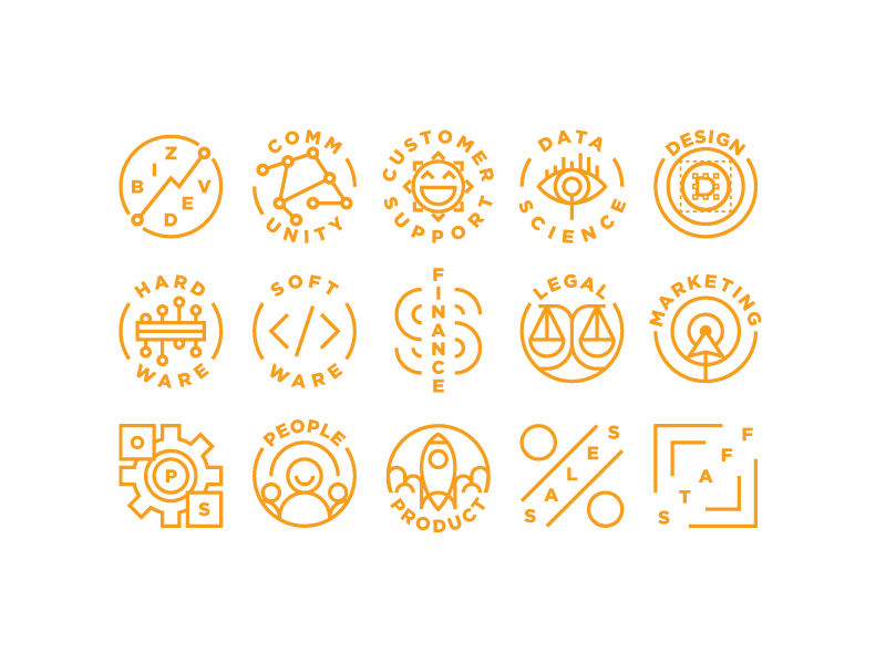 Conference Icons thin lines simple geometric illustration icon set icons icon