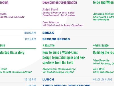 The Sched sentinel gotham narrow gotham typography grid schedule information design