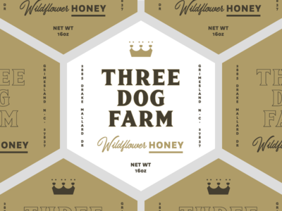 3DF Wildflower Honey Labels