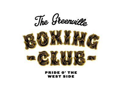 In the Club badge badges lockup knockout hobeaux rococeaux typography script