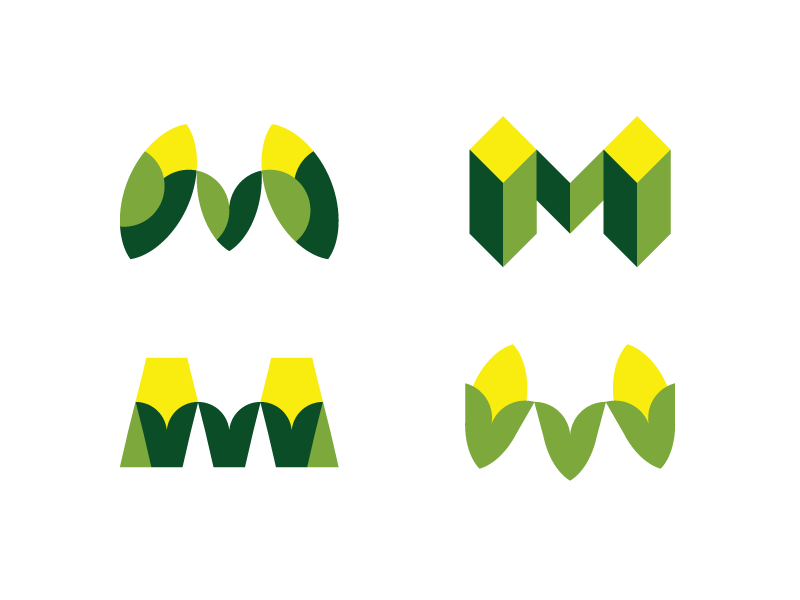 Maize Monograms m monogram monograms mexican restaurant identity restaurant brand restaurant branding visual identity identity brand branding