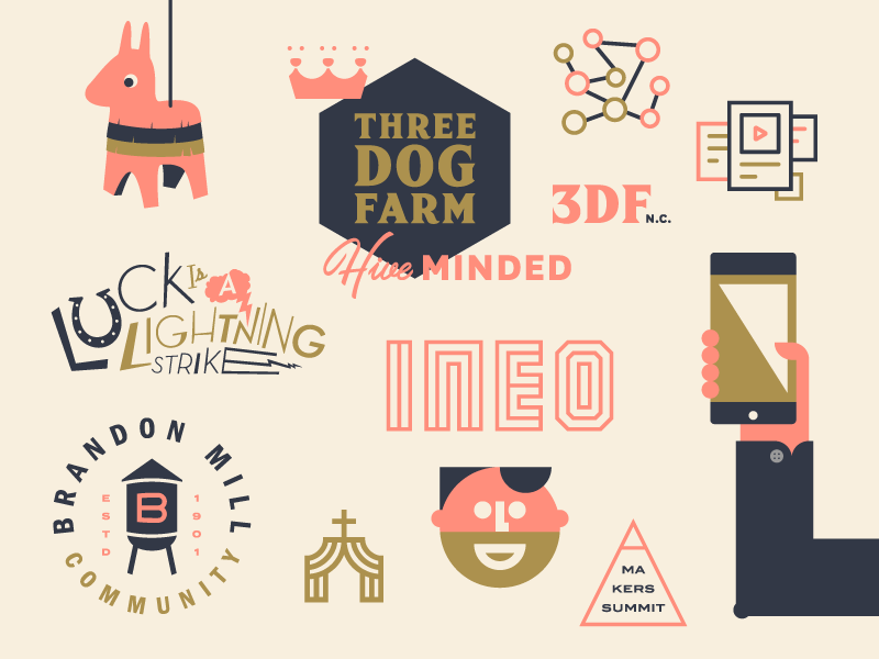 Blankenship Office Spring Instagram Campaign illustration logos visual identity identity brand branding
