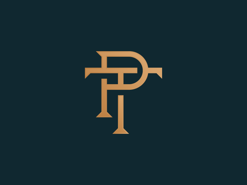Unused PT Monogram typography handdrawn type custom type lettering monogram