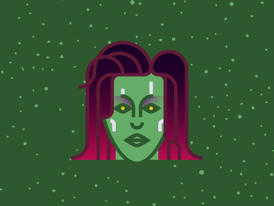 5 Days... character character design illustration guardians of the galaxy gamora infinity war avengers