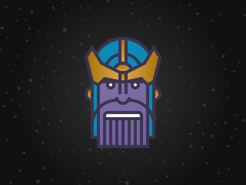 2 Days... thanos character character design illustration avengers infinity war