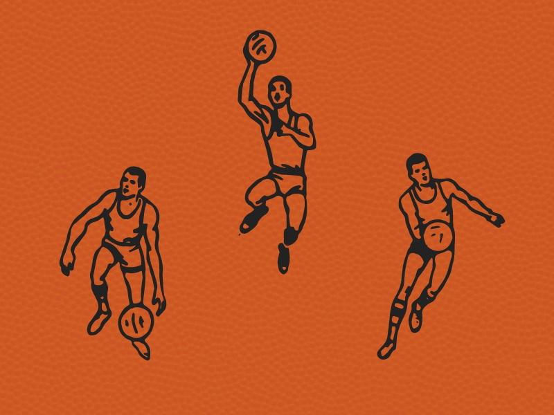 They shooting hoops / Yeah Yeah Yeah / They playing basketball basketball vintage illustration vector illustration