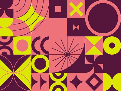 Summertastic texture pattern mid-century geometric