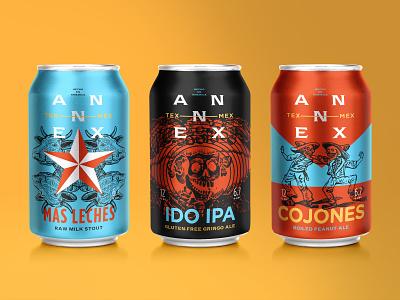 Annex Cannex copywriting star skull gotham condensed gotham rounded gotham beercan mockup packaging mockup beverage packaging packaging typography