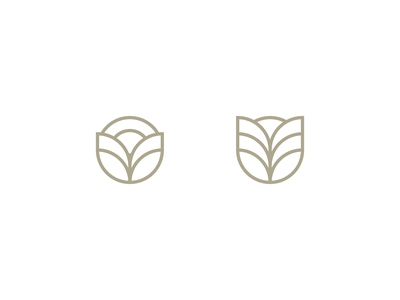 A/B Test floral thick lines logo