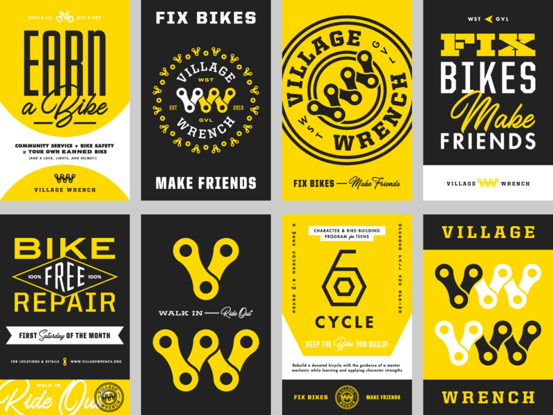 Village Wrench Shop Posters vw monogram monogram posters typography