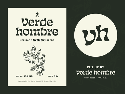 ¡Hola, Hombre! seeds illustration typography