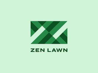 The Zen of Logos z monogram z logo branding monogram custom type green grid typography