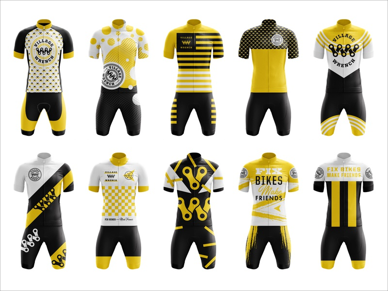 Village Wrench WIP Cycling Kits apparel cycling kit cycling jersey cycling branding typography