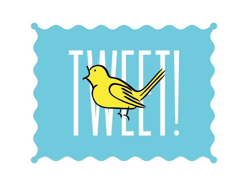Tweet Tweet typography illustration