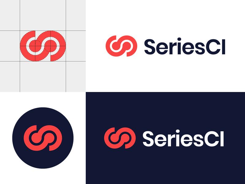 Continuous Integration infinity symbol s monogram monogram icon branding typography