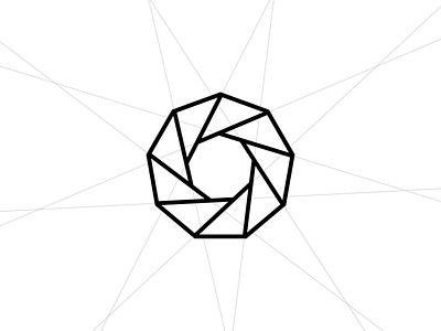 Enneagraph Co. geometric enneagon enneagram 9 nine nonagon identity brand identity brand symbol logo icon grid