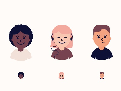 Little Peoples community vector people expressions icons illustrator illustration characters warm avatar cuties characterbuild