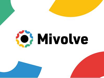 Mivolve Data Management yata no kagami yata no kagami logotype data management data education symbol flat branding mark logo