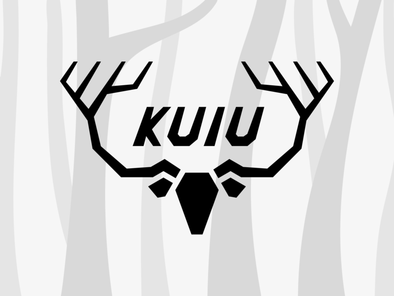 KUIU Hunting Gear Logo animal design kuiu icon hunting dear symbol flat type branding mark logo
